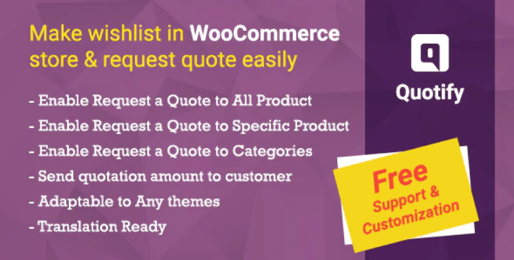 Quotify woocommerce request a quote plugin wordpress