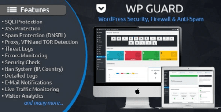 Wp guard wordpress security firewall anti spam plugin wordpress