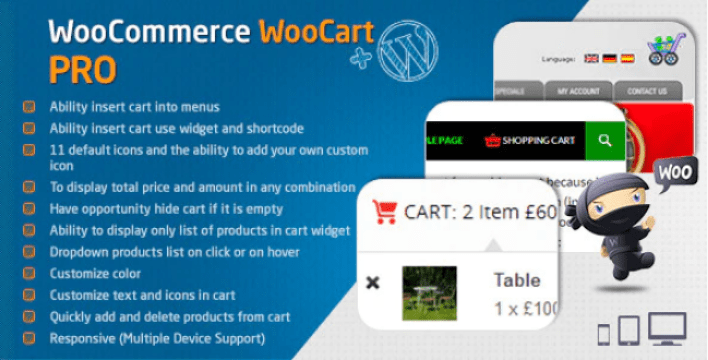 Woocart pro dropdown cart for woocommerce plugin wordpress