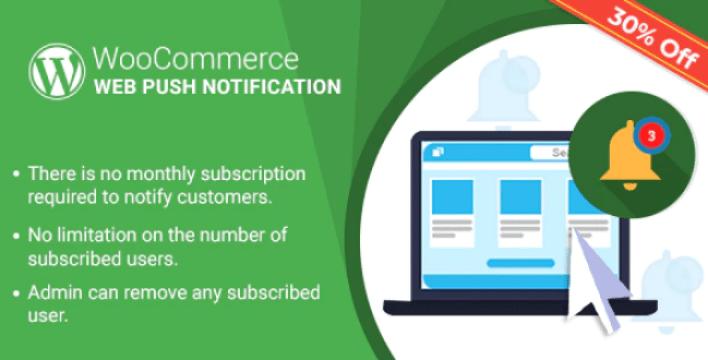Wordpress woocommerce web push notification plugin wordpress
