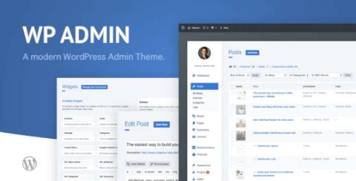 Wphave admin a clean and modern wordpress admin theme wordpress plugin