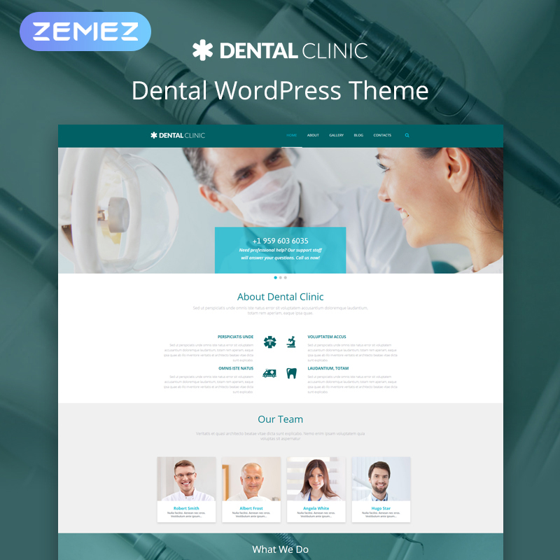 Dental - Tema Moderno WordPress Multipurpose Medical Elementor