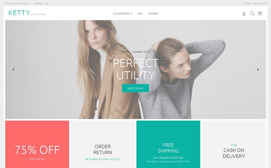 Ketty – Thème Magento pour magasin de vêtements