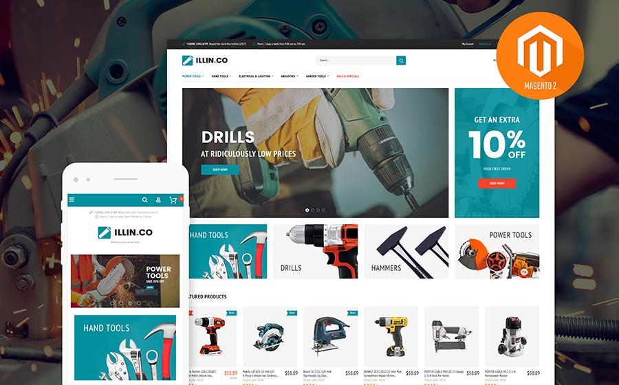 Illin.co - thème Magento pour magasin d'outils et d'équipement