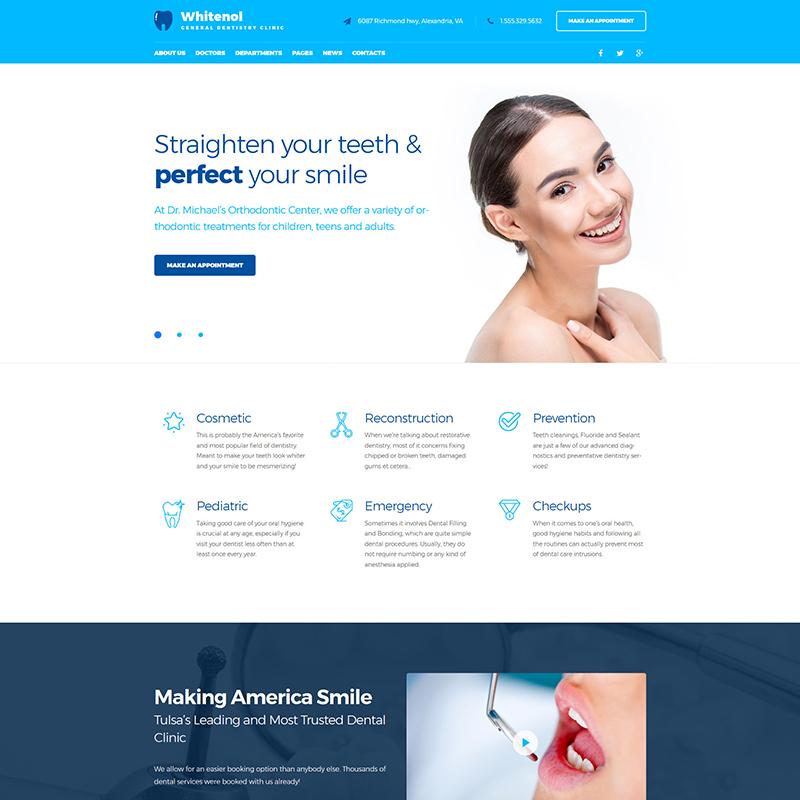 Тема WordPress для стоматологического лечения