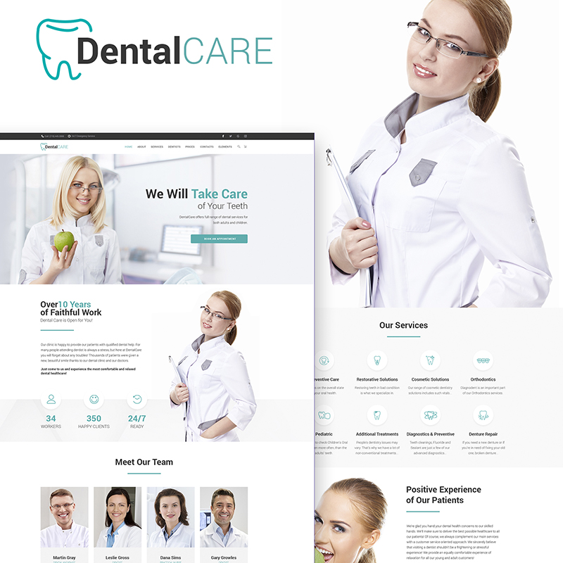 Tema WordPress DentalClinic