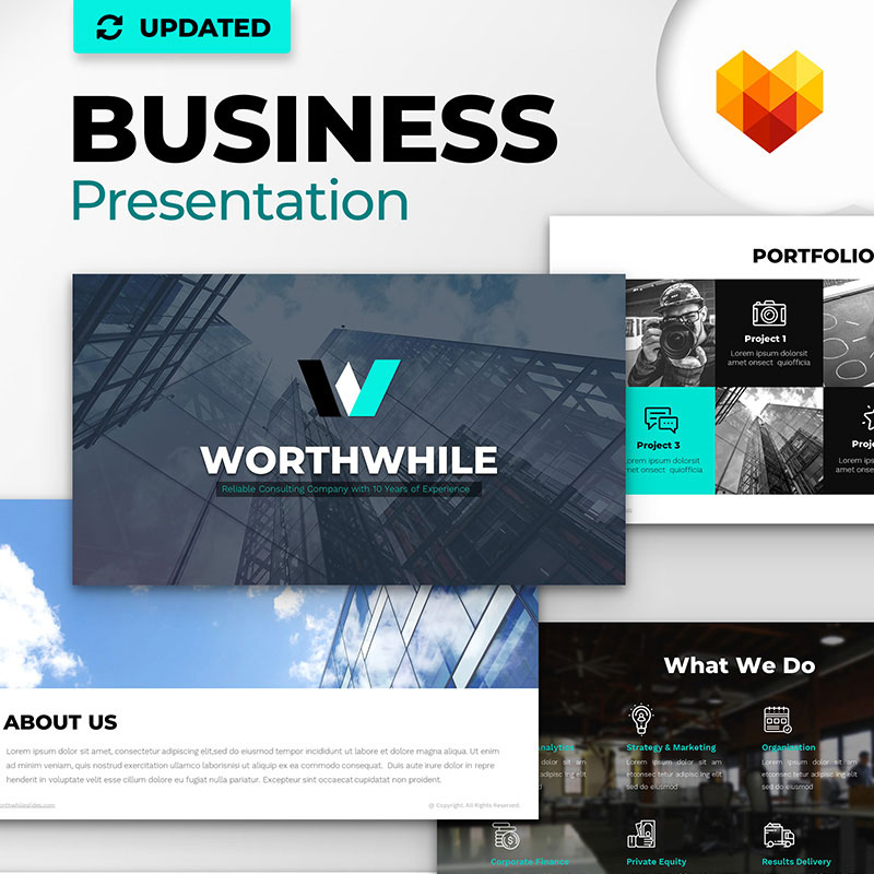 WorthWhile Consulting PowerPoint Vorlage für PPT Design