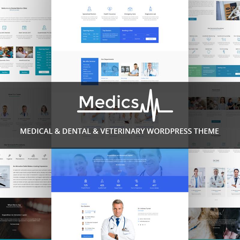 Medics - Медицинская, стоматологическая и ветеринарная тема WordPress