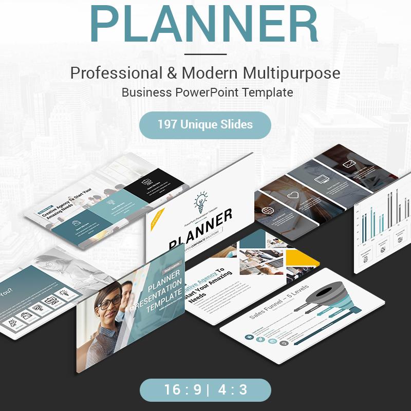 Modèle PowerPoint pour présenter votre planificateur parfait