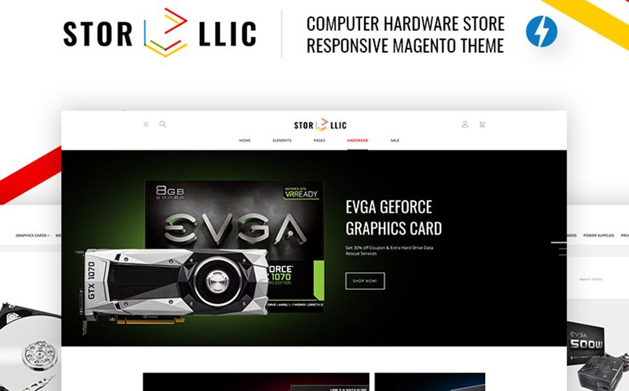 StorLlic – Thème Magento pour vente de matériel informatique