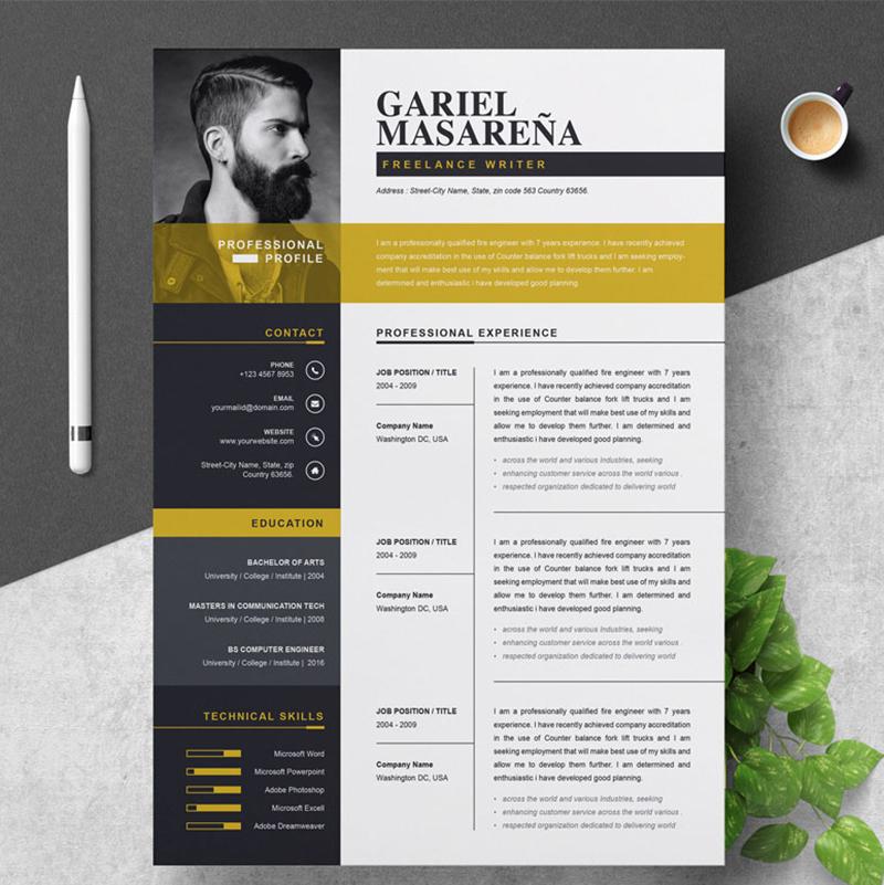Gariel Masarena modèle de CV