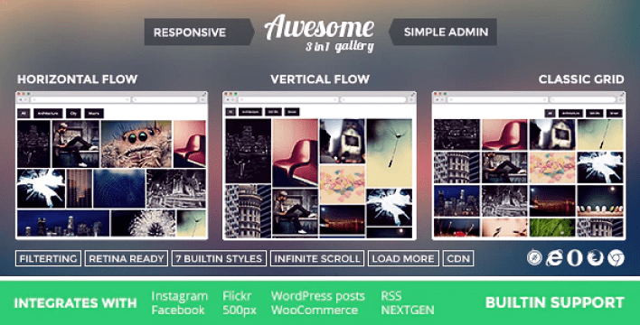 Awesome gallery instagram flickr facebook galleries on your site plugin wordpress
