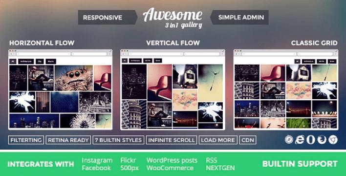 Awesome gallery instagram flickr facebook galleries on your site plugin wordpress