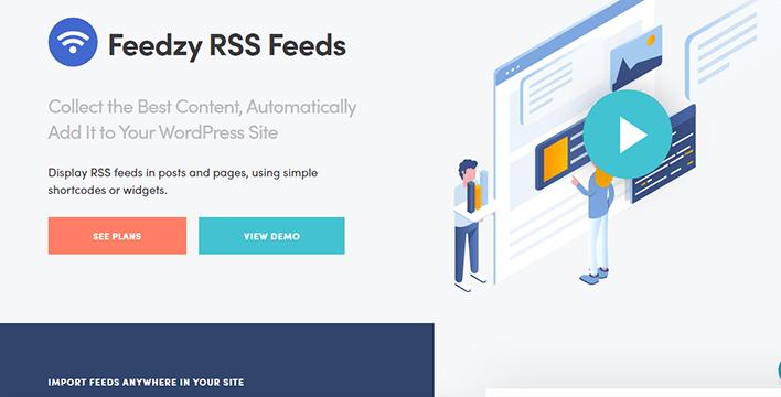Feedzy rss feeds plugin wordpress créer blog automatique