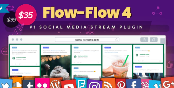 Facebook Instagram Twitter Feed — WordPress Social Stream Grid Gallery Plugin wordpress