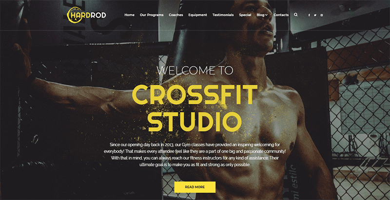 meilleurs thèmes WordPress de fitness - Hardrod