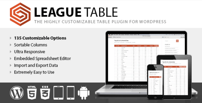 League table plugin wordpress