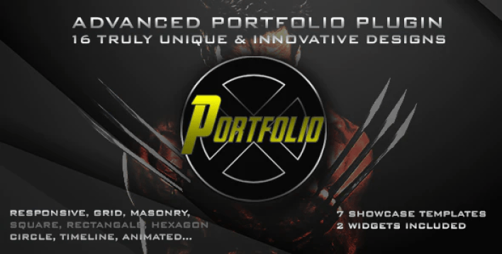 créer des galeries - Portfolio x plugin wordpress