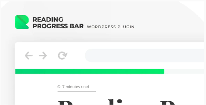 Rebar - reading progress bar for wordpress website plugin wordpress