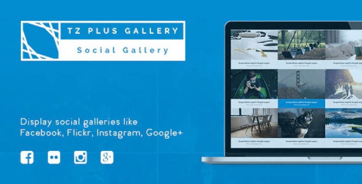 Tz plus gallery wordpress social gallery plugin wordpress