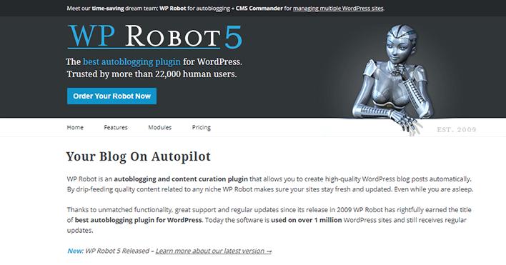 Wp robot plugin wordpress créer blog automatique