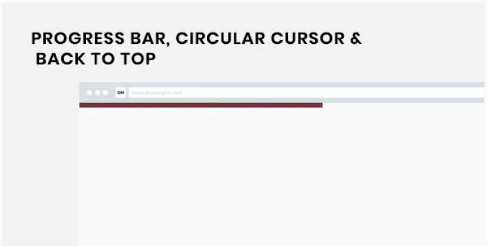 Xl progress reading progress indicator circular cursor and back to top wordpress plugin