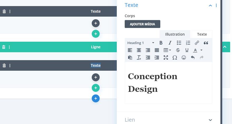 Conception design divi titre