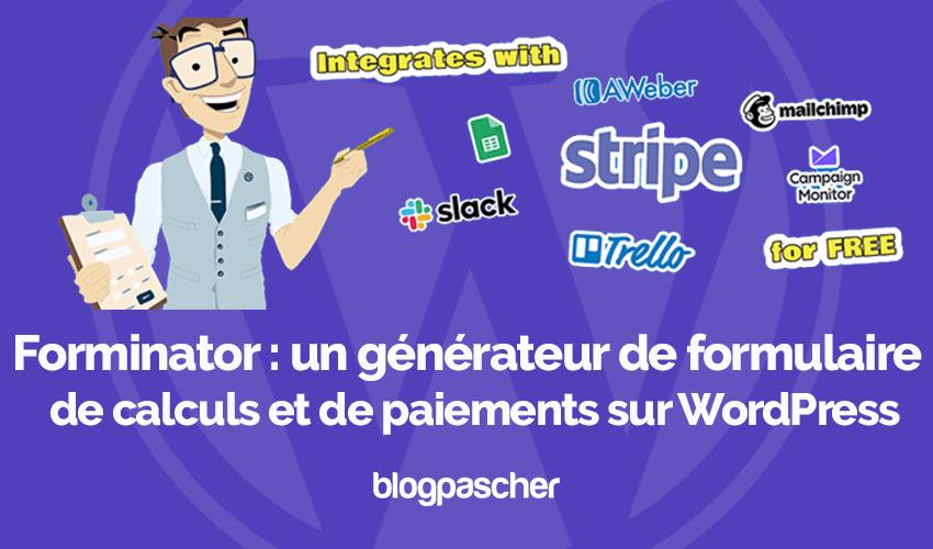 Forminator Generateur Formulaire Gratuit Avec Calculs Paiements Wordpress