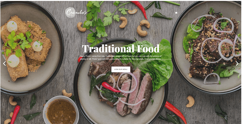 Crunchos Theme Wordpress Creer Site Web Restaurant 1
