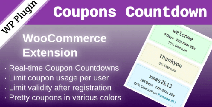Woocommerce coupons countdown plugin wordpress