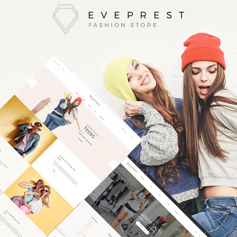 Eveprest Fashion 1.7 - PrestaShop Тема для магазина модной одежды