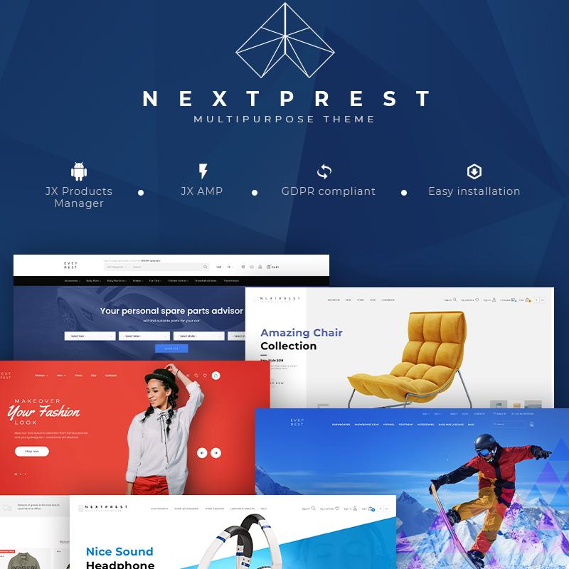 NextPrest - электронная коммерция PrestaShop Theme Чистый и универсальный Bootstrap