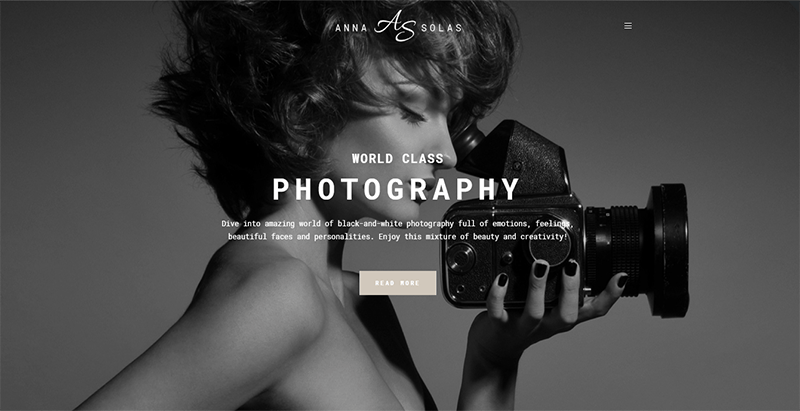 Anna solas theme wordpress creer site web photographe portfolio