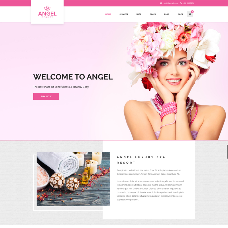 Ангел тема WordPress