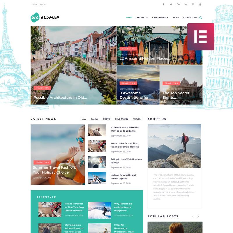 WorldMap WordPress Theme