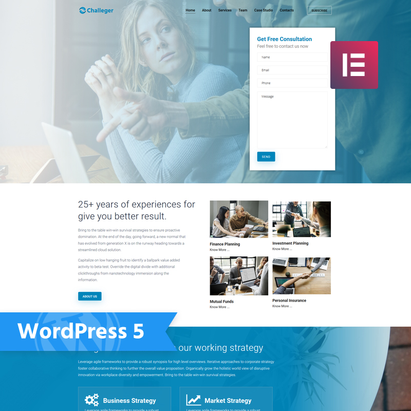 Challeger WordPress Teması