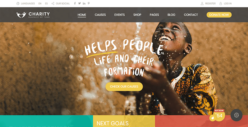 Charity foundation theme wordpress creer site web ong humanitaire