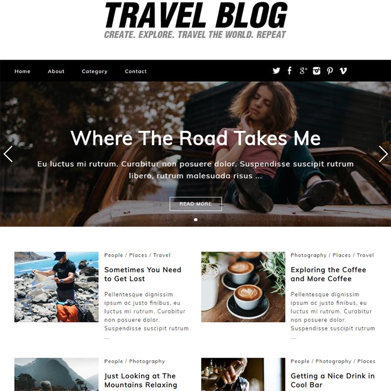 Travel Blog Thème WordPress