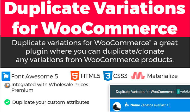 Duplicate variation for woocommerce blogpascher