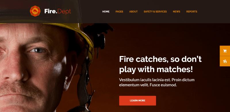 thèmes WordPress pour créer un site Web d'entreprise de sécurité Fire department