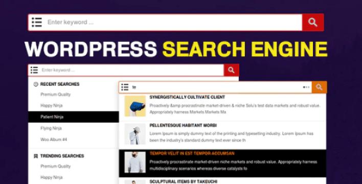 Wp search engine wordpress woocommerce custom post types plugin wordpress