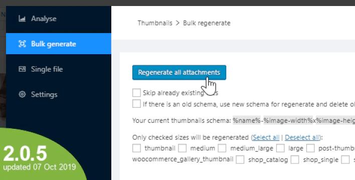 plugins WordPress pour créer des vignettes - WordPress real thumbnail generator bulk regenerate thumbnails upload folder plugin wordpress