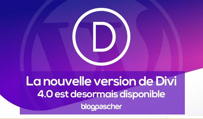 Nouvelle version de divi 4.0 disponible