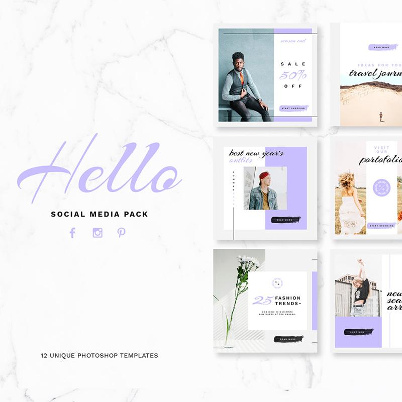 Hello Package pour médias sociaux