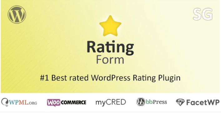 plugins WordPress de critique pour booster vos revenus - Rating form plugin wordpress