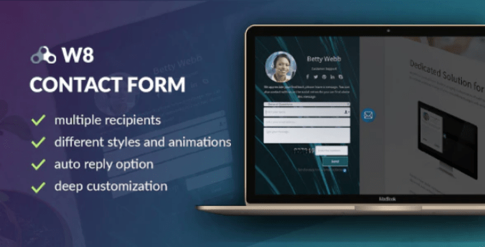 W8 contact form wordpress contact form plugin wordpress