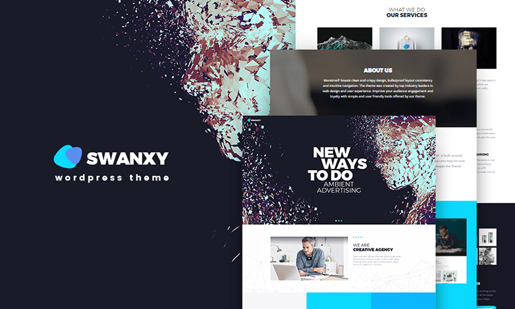 Swanxy thème WordPress adaptatif