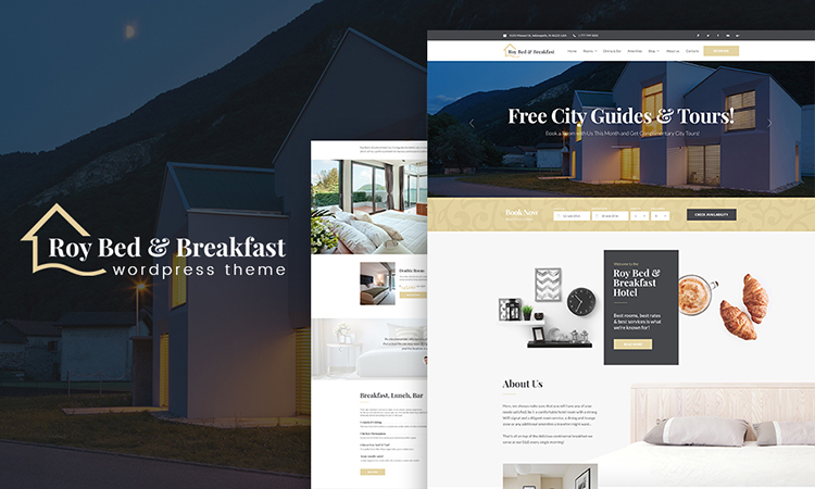 Roy Bed & Breakfast - Small Hotel thème WordPress adaptatif