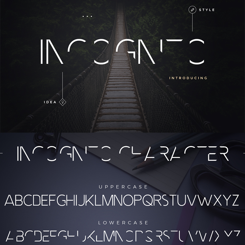 Incognito Font Pack police de caractère