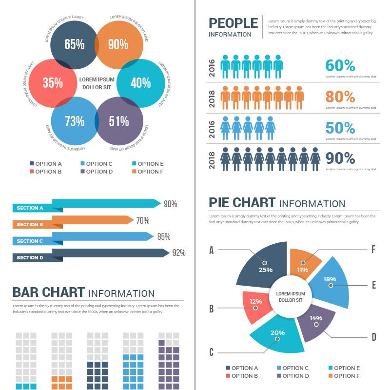 Conceptual Éléments infographiques